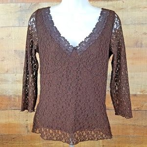 Axcess by Liz Claiborne Blouse Top Women's Size S